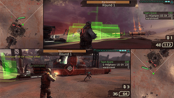 starhawk review - starhawk splitscreen makes smart use of your entire display - Starhawk Review