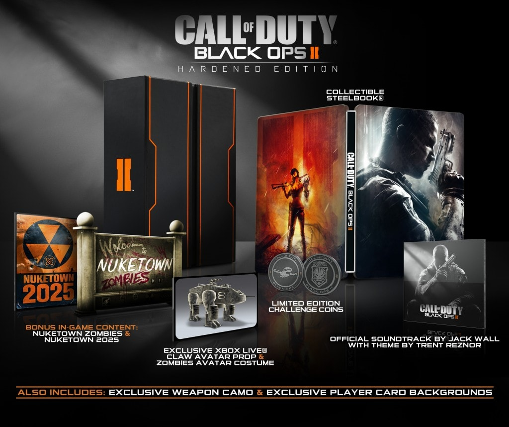 call of duty: black ops ii - Call of Duty Black Ops II Hardened Edition X360 1024x858 - Call of Duty: Black Ops II – Collector's Editions Revealed