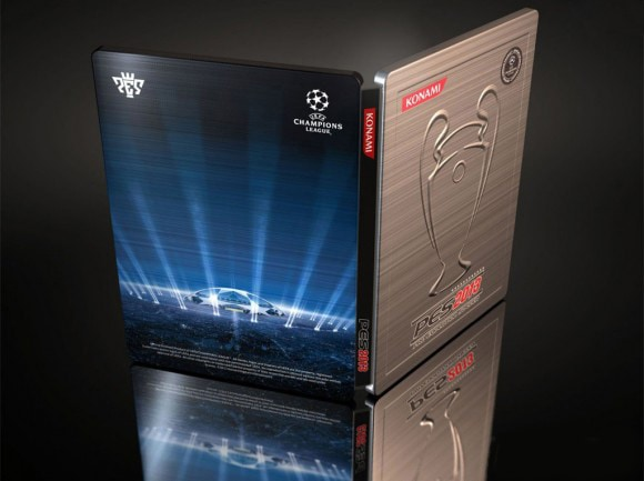 Pro Evolution Soccer 2013 - Debut Trailer & Steelbook Announcement - PES 2013 UEFA steelbook back - Pro Evolution Soccer 2013 – Debut Trailer & Steelbook Announcement