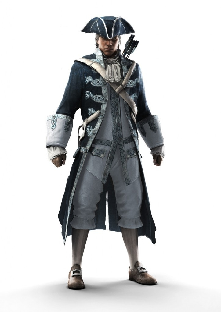 assassin's creed iii - AC3 Render SP 13 ULC CaptainOfTheAquilaOutfit 724x1024 - Assassin's Creed III – Canadian Pre-Order Bonuses