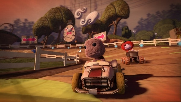 littlebigplanet karting review - littlebigplanet karting details race around the sack - LittleBigPlanet Karting Review