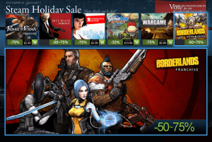 Steam Sale Day 1 steam holiday sale - Steam Sale Day 1 300x201 - Day 1 of the Steam Holiday Sale has begun!