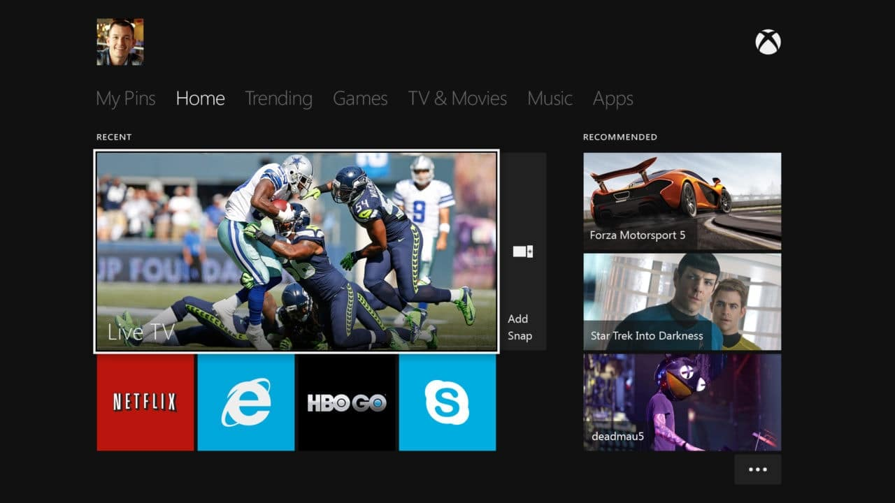 Xbox_Home_UI_EN_US_Male_SS xbox one - Xbox Home UI EN US Male SS - Microsoft Reveals the Xbox One