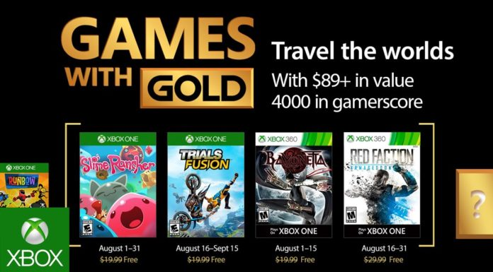 August 2017 Xbox Games With Gold