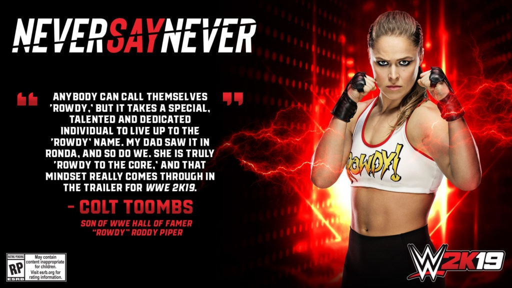 """WWE 2K19 ronda rousey wwe 2k19 - WWE 2K19 Quote Colt Toombs 1024x576 - """"Rowdy"""" Ronda Rousey to Make Historic Video Game Franchise Debut  as WWE 2K19 Pre-Order Bonus Character"""