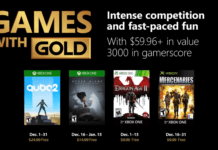 December 2018 Xbox Games With Gold