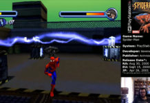 Spider-Man PS1 Spider vs. Rhino